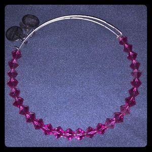 Alex and Ani Swarovski hot pink beaded bracelet